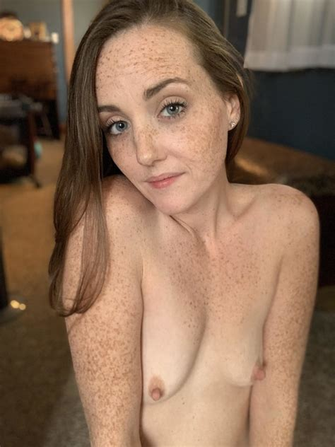 Small freckled breasts